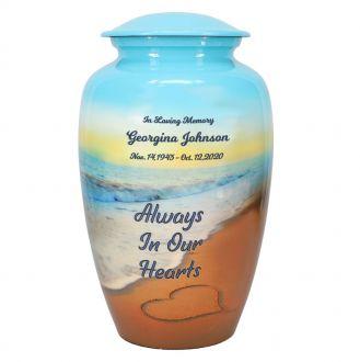 Always In Our Hearts Beach Urn