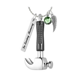 Carpenter Hammer Ash Pendant Urn - Love Charms Option