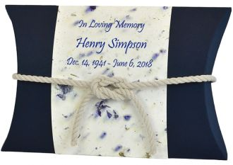 Ivory Peaceful Pillow® Flowers & Pearls Water Burial Urn
