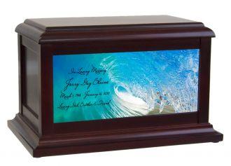 Blue Wave Memorial Adult or Medium Urn