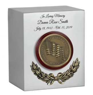 Wreath of the Flag Cremation Urn