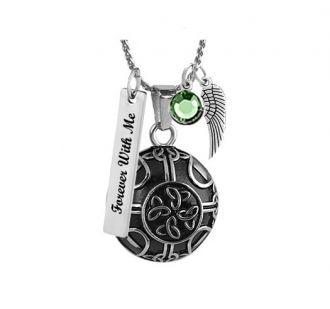 Celtic Knot Pendant Urn - Love Charms Option