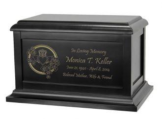 Claddagh & Shamrocks Cremation Urn