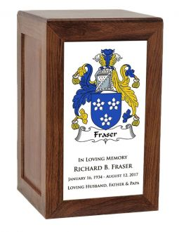 Coat Of Arms Rustic Beech Urn - Adult or Shared