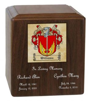 Family Coat of Arms Companion Cremation Urn