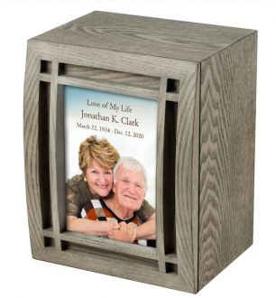 Angel Wing Picture Cremation Urn
