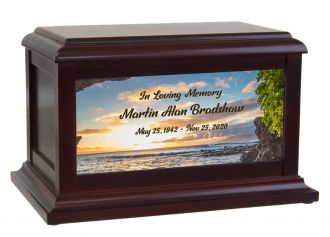 Motorcycle Reflections Cremation Urn
