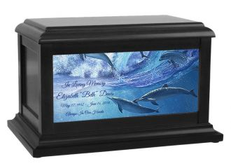 Playful Dolphin Cremation Urn by Abraham Hunter