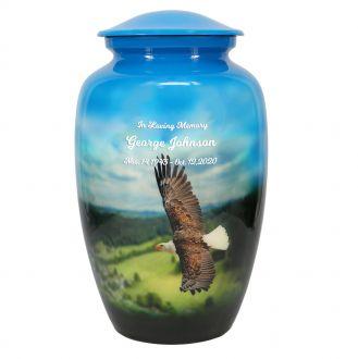 Eagle In Flight Cremation Urn
