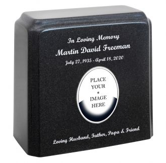 Marble Gray Photo Options Adult Urn
