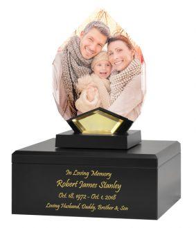 Crystal Teardrop Hero Cremation Urn