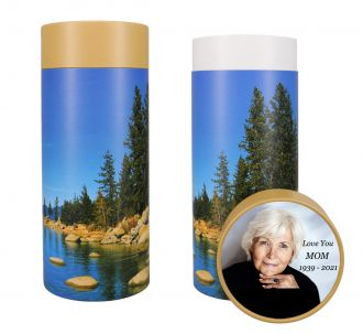 Lake Scattering Tube Urn - Photo & Text Options