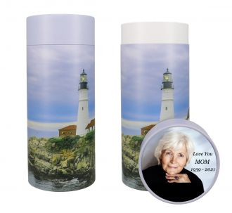 Lighthouse Scattering Tube Urn - Photo & Text Options