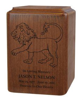 Lion Family Crest Urn