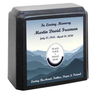 Mountain Memorial Granite Gray Adult Urn