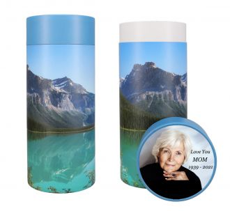 Mountain Scattering Tube Urn - Photo & Text Options