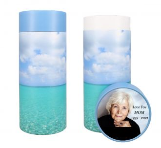 Ocean Scattering Tube Urn - Photo & Text Options