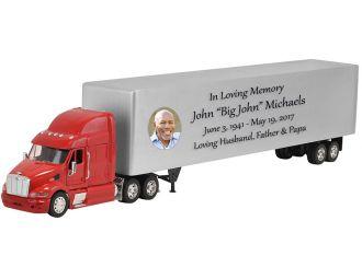 Peterbilt 387 Red Truck Cremation Urn