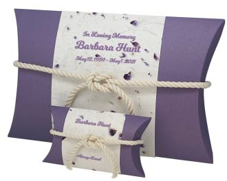 Purple Petals Peaceful Pillow® Water Urn