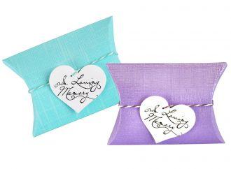 Tiny Aqua or Purple Peace Pillow Bio Urn