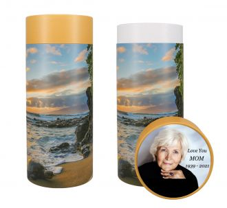 Turtle Beach Scattering Tube Urn - Photo & Text Options