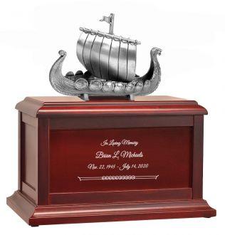 Viking Ship Adult Redwood Adult or Medium Urn