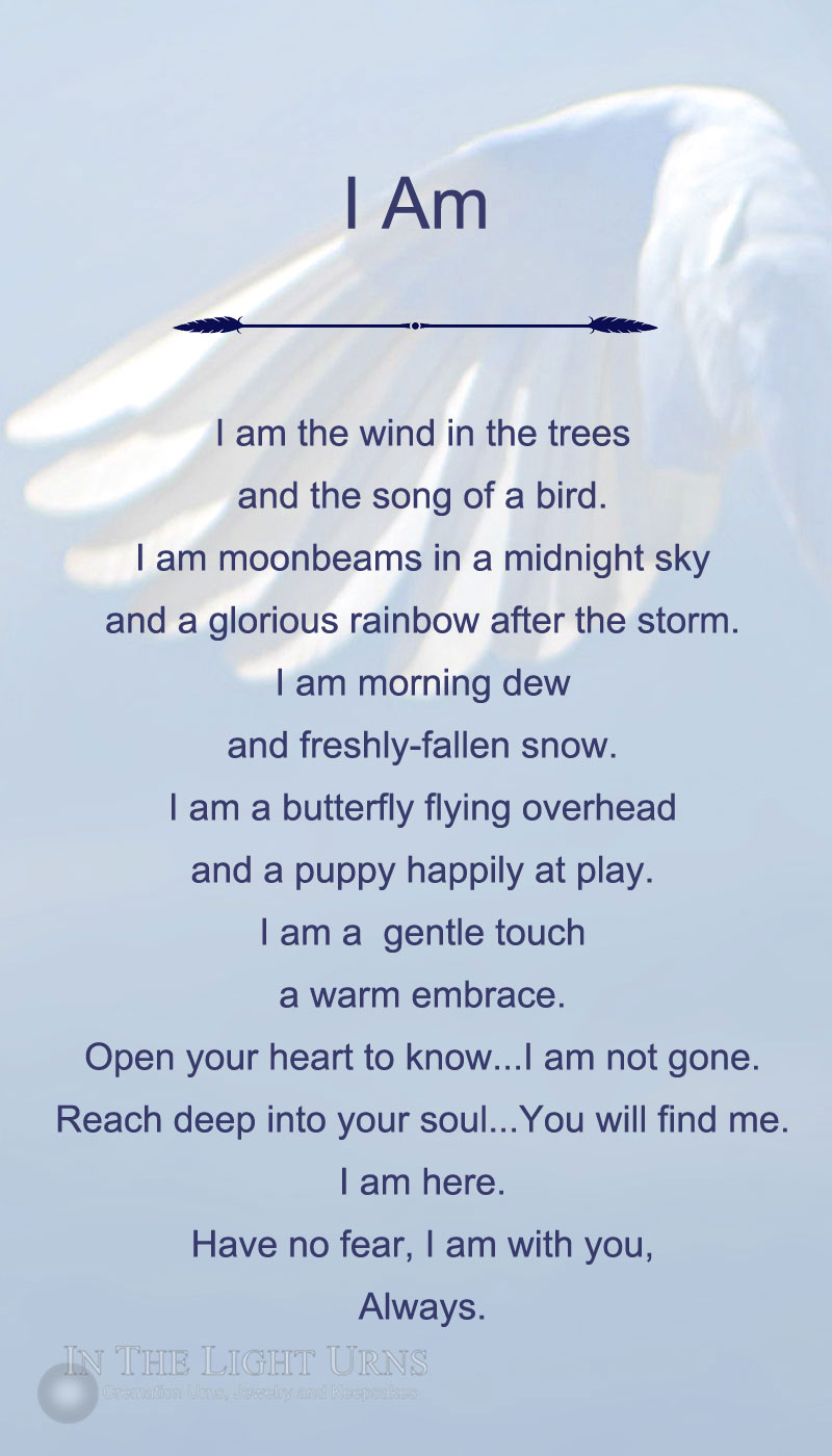 Angel Wing I Am Poem
