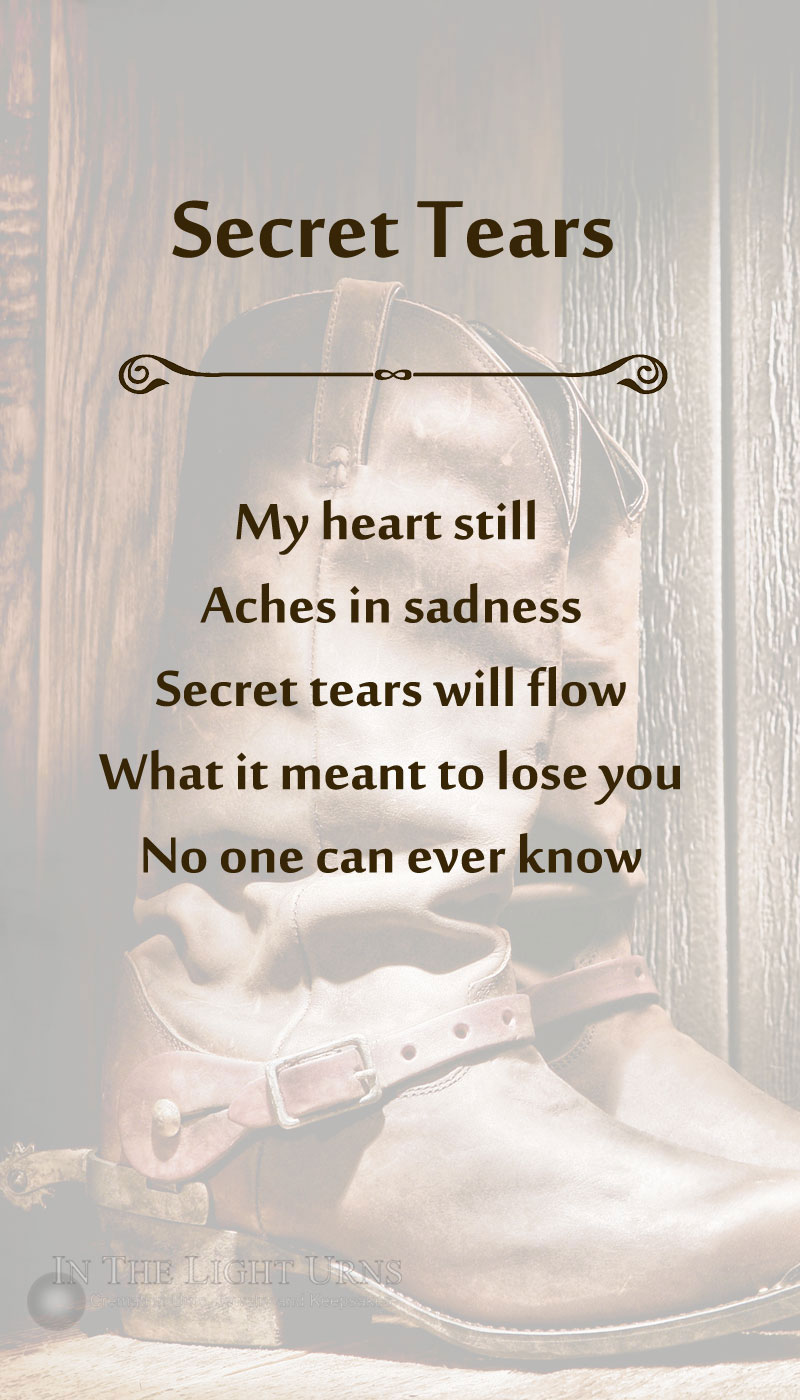 Cowboy Secret Tears