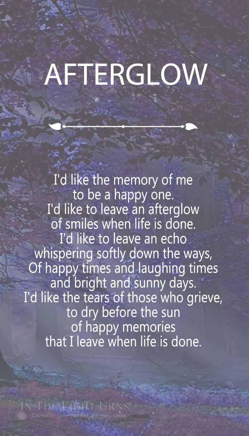 Violet Forest Afterglow Poem