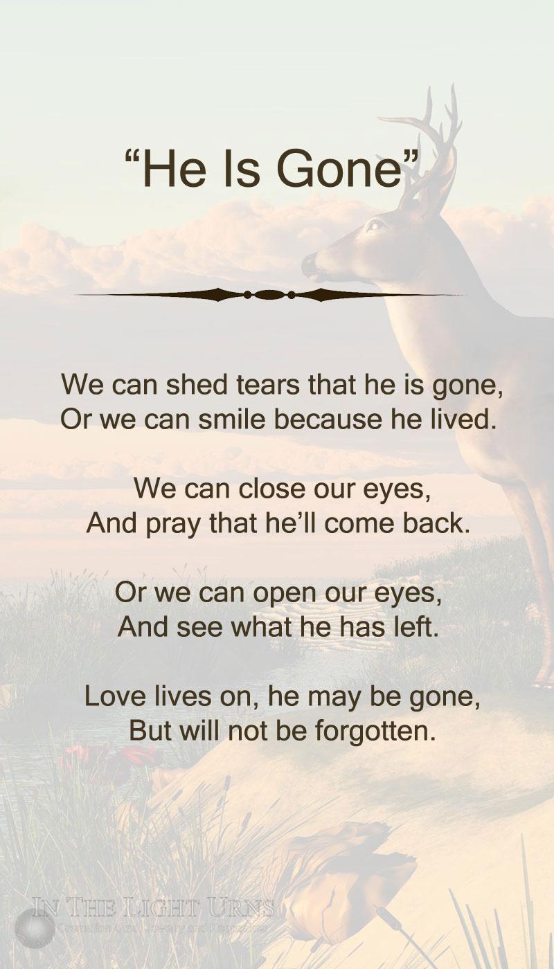 Western Buck He Is Gone Poem
