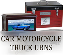 Motorcycle Truck & Car Urns for ashes