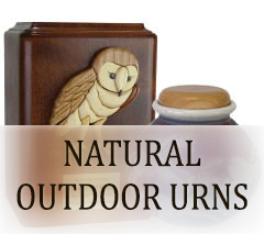 Natural Outdoor Urns for ashes
