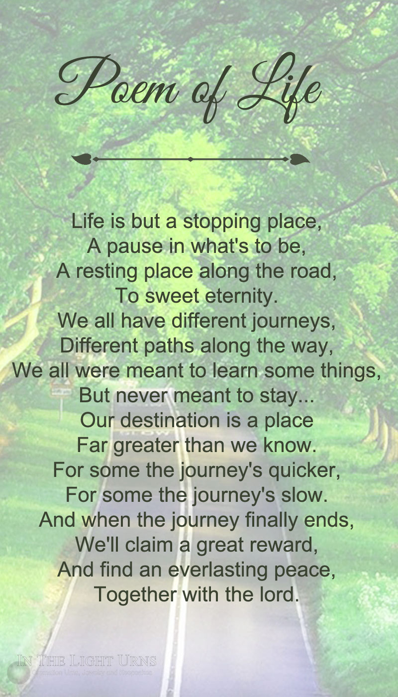 Tree Lined Road Poem of Life